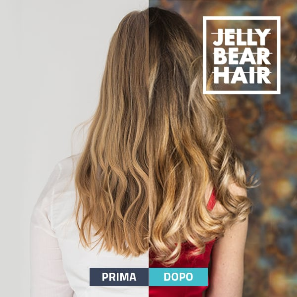 integratore per capelli Jelly Bear Hair prima e dopo